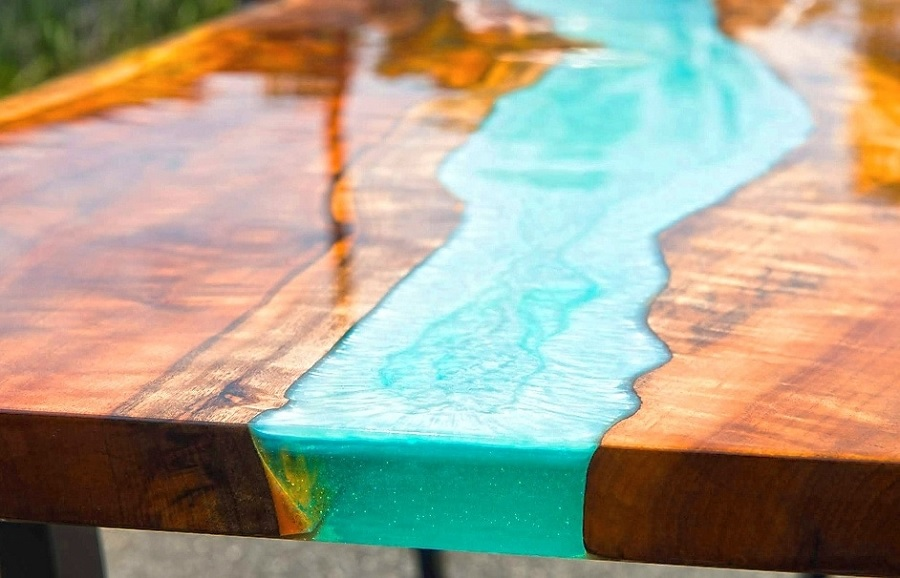 A Synthetic Resin That Is Utilized in a Variety of Applications – Epoxy Wood Resin Table